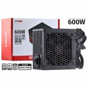 FONTE ATX 600W SPARK 75+ - PFC ATIVO - CABOS FLAT - PXSP600WPT
