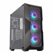 GABINETE MASTERBOX TD500 MID TOWER COM LED ARGB PRETO - MCB-D500D-KANN-S01
