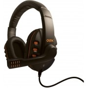 Headset Gamer Oex Game Action com Microfone HS-200 Preto/Laranja