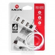 HUB USB MOX MO-US10 4 PORTAS HIGH SPEED BRANCO