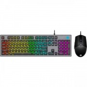 KIT TECLADO E MOUSE USB GAMER KM300F PRETO - HP