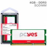 MEMORIA PCYES SODIMM 4GB DDR3 1333MHZ - PM041333D3SO
