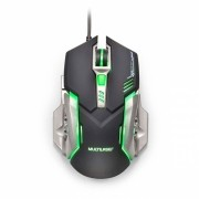 MOUSE GAMER 2400 PI PRETO E GRAFITE MO269