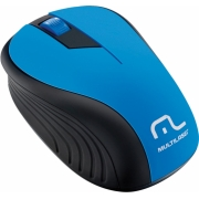 MOUSE SEM FIO 2.4GHZ PRETO E AZUL USB 1200DPI PLUG AND PLAY MO215