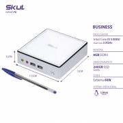 NANO COMPUTADOR BUSINESS B500 - I5 5300U 2.3GHZ MEM 8GB DDR3 SODIMM SSD 240GB WI-FI FONTE EXTERNA LINUX