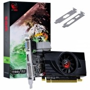 PLACA DE VIDEO NVIDIA GEFORCE GT 730 GDDR5 4GB 64BITS LOW PROFILE COM KIT INCLUSO - PA7304DR564LP