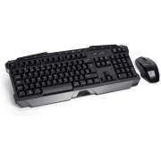 TECLADO E MOUSE SEM FIO 2.4GHZ MULTIMIDIA GAMER USB PRETO TC166