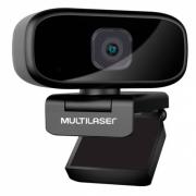 WEBCAM FULL HD 1080P AUTO FOCUS ROTACAO 360° MICROFONE USB PRETO WC052