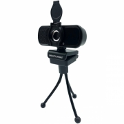 WEBCAM FULL HD 1080P COM TRIPE NOISE CANCELLING MICROFONE USB PRETO WC055