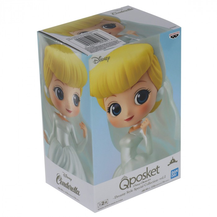 ACTION FIGURE DISNEY - PRINCESA CINDERELA - DREAMY STYLE SPECIAL COLLECTION Q POSKET REF: 20765/20766