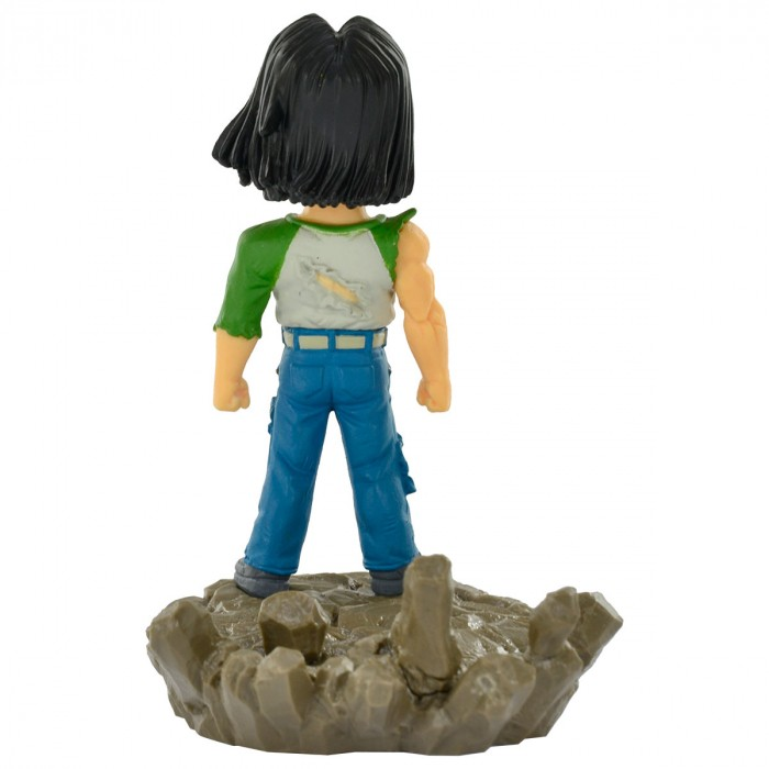 ACTION FIGURE DRAGON BALL SUPER - ANDROID NUMERO 17 - DIORAMA WCF