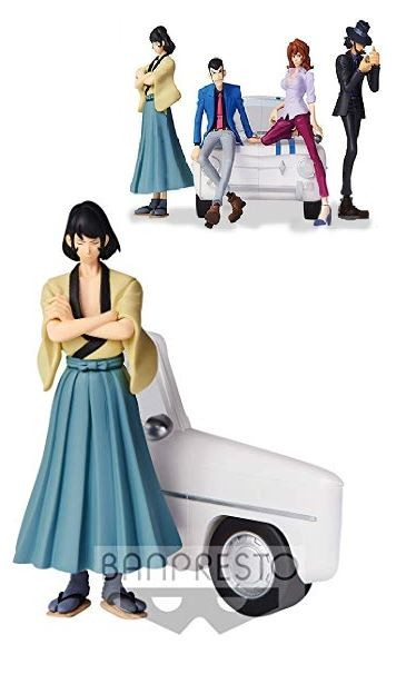 ACTION FIGURE LUPIN THE THIRD PART5 - GOEMON ISHIKAWA - CREATOR X CREATOR REF.28314/28315