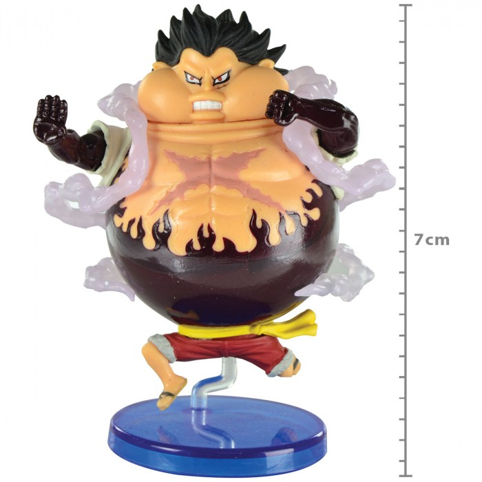 ACTION FIGURE ONE PIECE - LUFFY - BATTLE OF LUFFY WHOLE CAKE ISLAND WCF REF:29288/29289