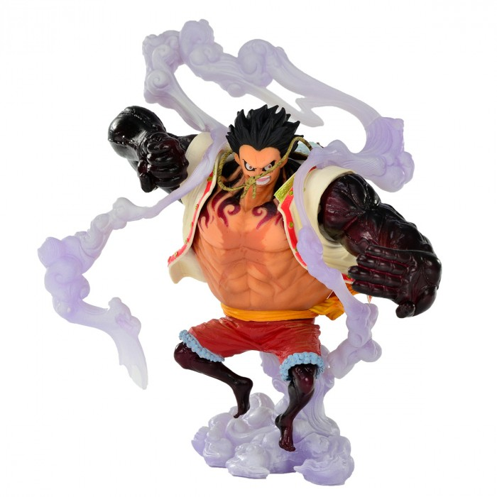 ACTION FIGURE ONE PIECE - MONKEY D. LUFFY GEAR4TH (BOUND MAN) - KING OF ARTIST SPECIAL REF: 20827/20828