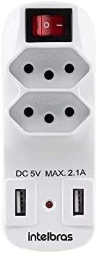 ADAPTADOR DE 2 TOMADAS E 2 USB EAC 1002 - INTELBRAS