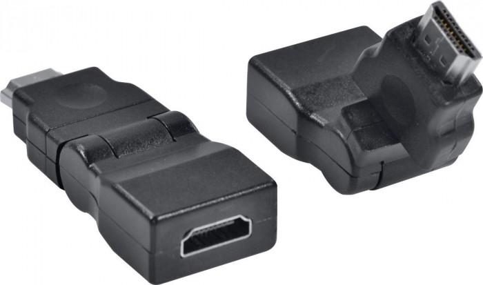 ADAPTADOR HDMI FEMEA X HDMI MACHO 360º AHHF-A360