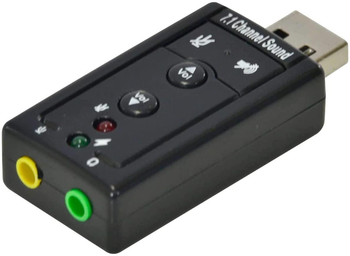 ADAPTADOR PLACA DE SOM USB 7.1 CANAIS VIRTUAL AUSB71