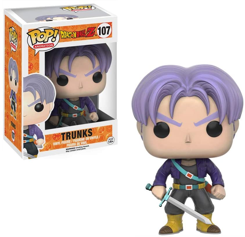 BONECO FUNKO POP DRAGONBALL Z - TRUNKS #107