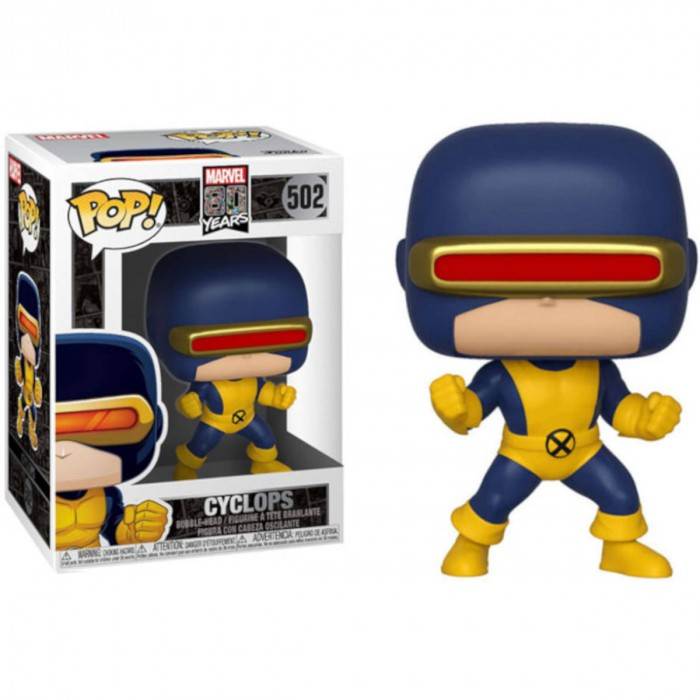 BONECO FUNKO POP MARVEL EDICAO ESPECIAL 80 ANOS  -  CYCLOPS - FIRST APPEARANCE #502
