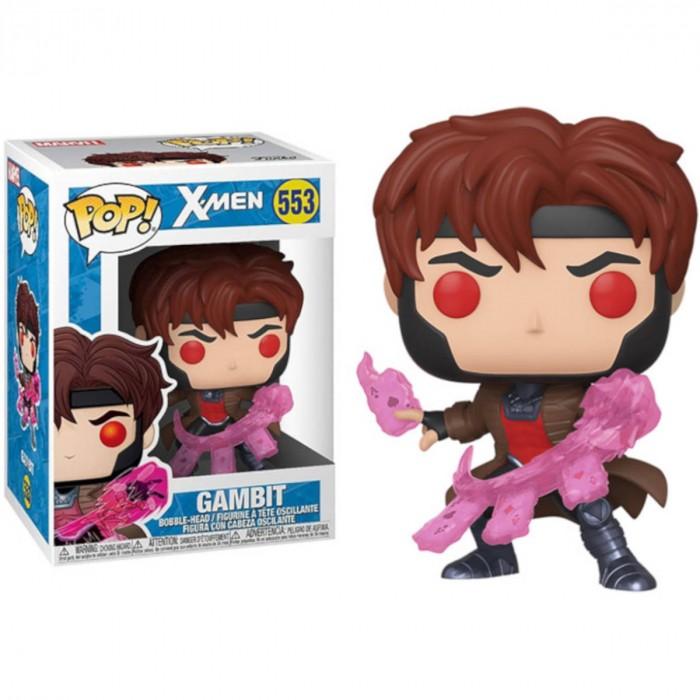 BONECO FUNKO POP MARVEL X-MAN - GAMBIT WITH CARDS #553