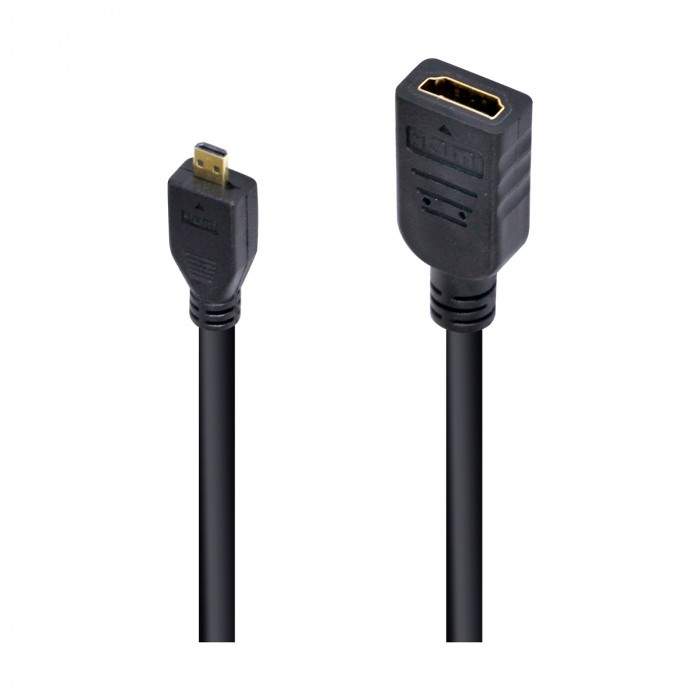 CABO ADAPTADOR MICRO HDMI X HDMI FEMEA 30CM AMCHF-30