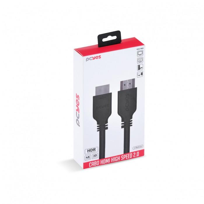 CABO HDMI 2.0 4K 30AWG COBRE PURO 3 METROS - PHM20-3