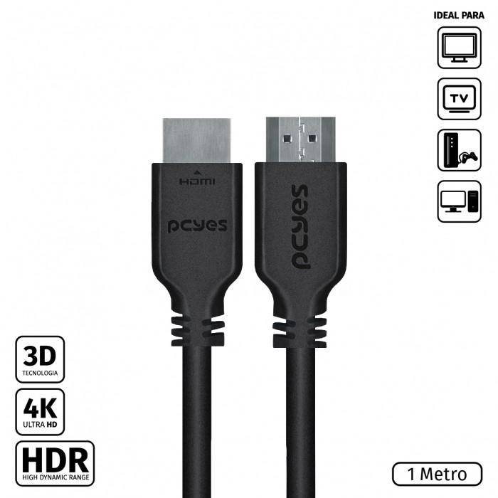 CABO HDMI 2.0 4K 30AWG PURO COBRE 1 METRO - PHM20-1