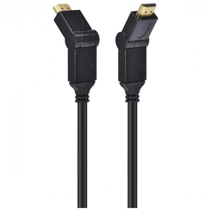 CABO HDMI 2.0 4K ULTRA HD 3D CONEXAO ETHERNET CONECTORES 180° 2 METROS - H20B180-2