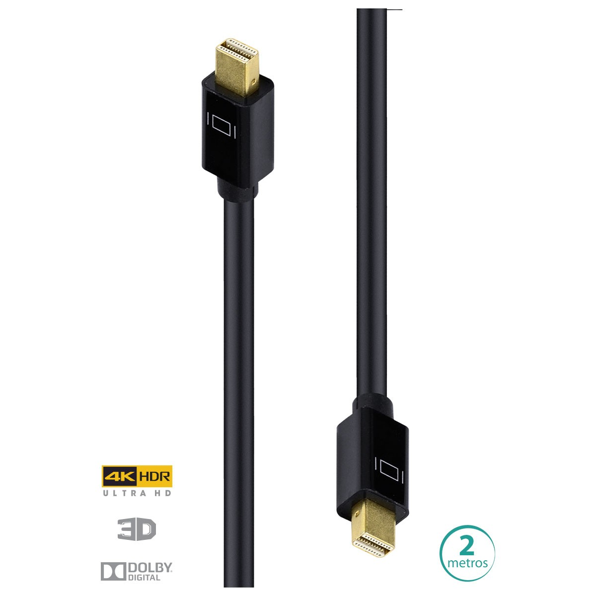 CABO MINI DISPLAYPORT 1.3V ULTRA HD 120HZ 2 METROS