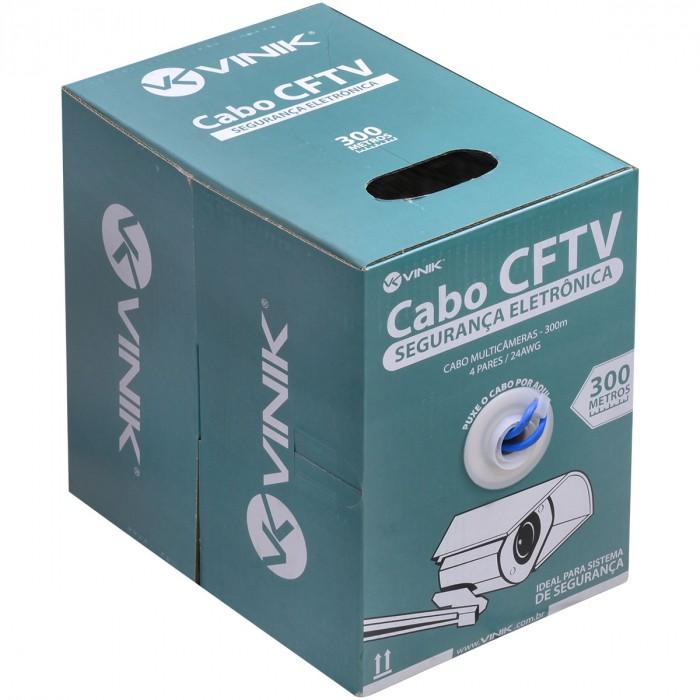 CABO MULTICAMERAS PARA CFTV 4 PARES 24AWG 300M AZUL