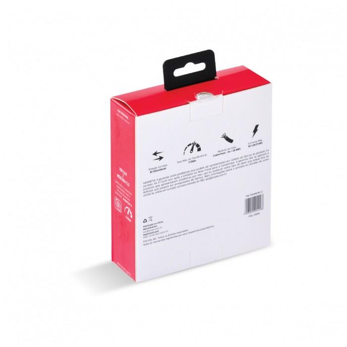 CABO PARA HD EXTERNO USB A 3.0 MACHO PARA MICRO USB B 3.0 (10 PINOS) MACHO 28AWG PURO COBRE 3 METROS - PUAMCM3-3
