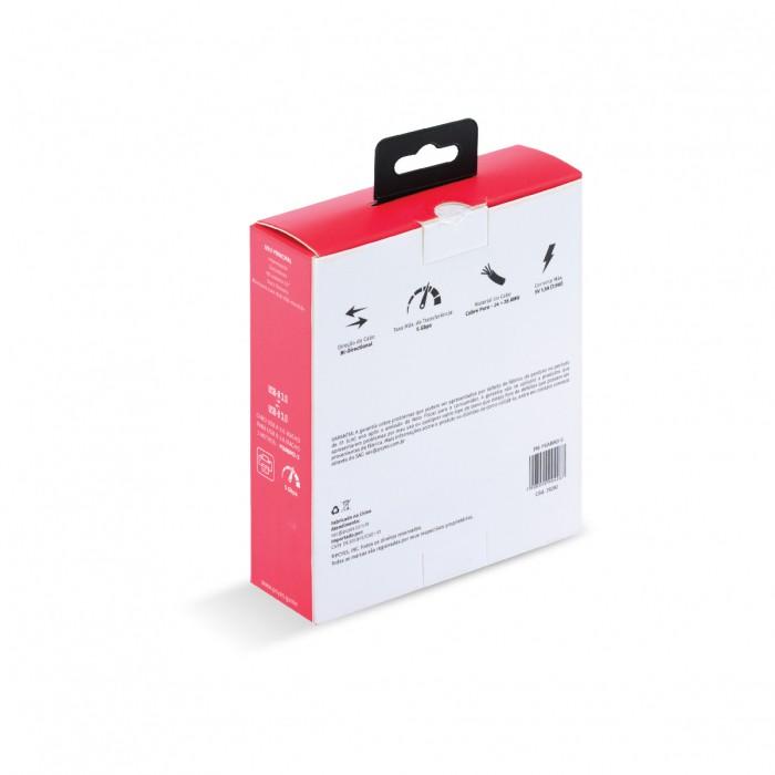 CABO PARA IMPRESSORA E HD EXTERNO USB A 3.0 MACHO PARA USB B 3.0 MACHO 28AWG PURO COBRE 3 METROS - PUABM3-3
