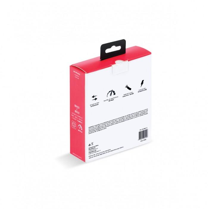 CABO PARA IMPRESSORA USB A 2.0 MACHO PARA USB B 2.0 MACHO 28AWG PURO COBRE 3 METROS - PUABM2-3