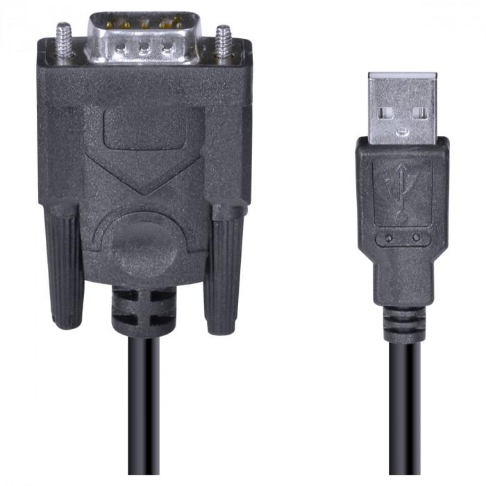 CABO USB 1.1 CONVERTE 1 PORTA USB EM 1 SAIDA SERIAL DB9 RS232 2 METROS U1DB9-2