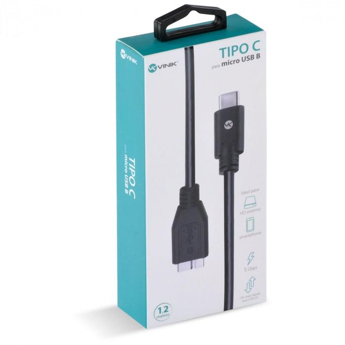 CABO USB TIPO C X MICRO USB B V3.2 GEN1 5GBPS 1.2 METROS - C32MUB-12