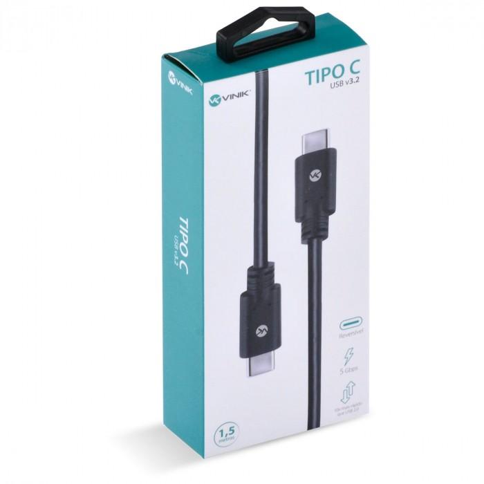 CABO USB TIPO C X TIPO C V3.2 GEN1 5GBPS 3A 1,5 METROS - C32G1-15