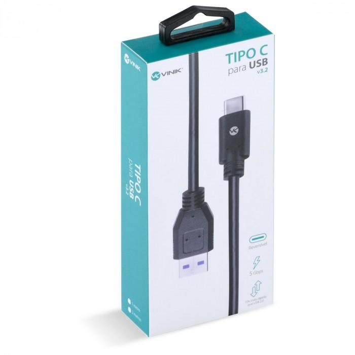 CABO USB TIPO C X USB A V3.2 GEN1 5GBPS 3A 2 METROS - C32UAM-2
