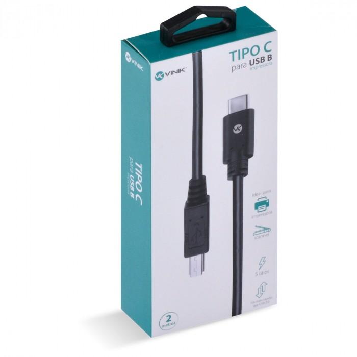 CABO USB TIPO C X USB B PARA IMPRESSORA V3.2 GEN1 5GBPS 2 METROS - C32UBM-2