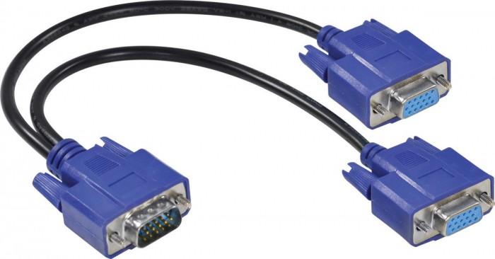 CABO Y VGA MACHO X 2 VGA FEMEA 15 PINOS AVY-1M/2F