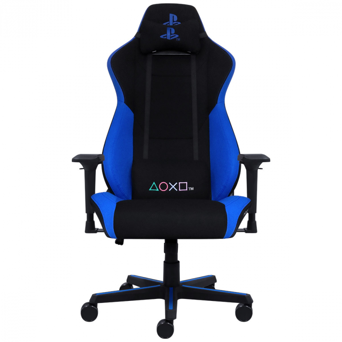 CADEIRA GAMER PLAYSTATION BY PCYES - AZUL - CADGPSAZ