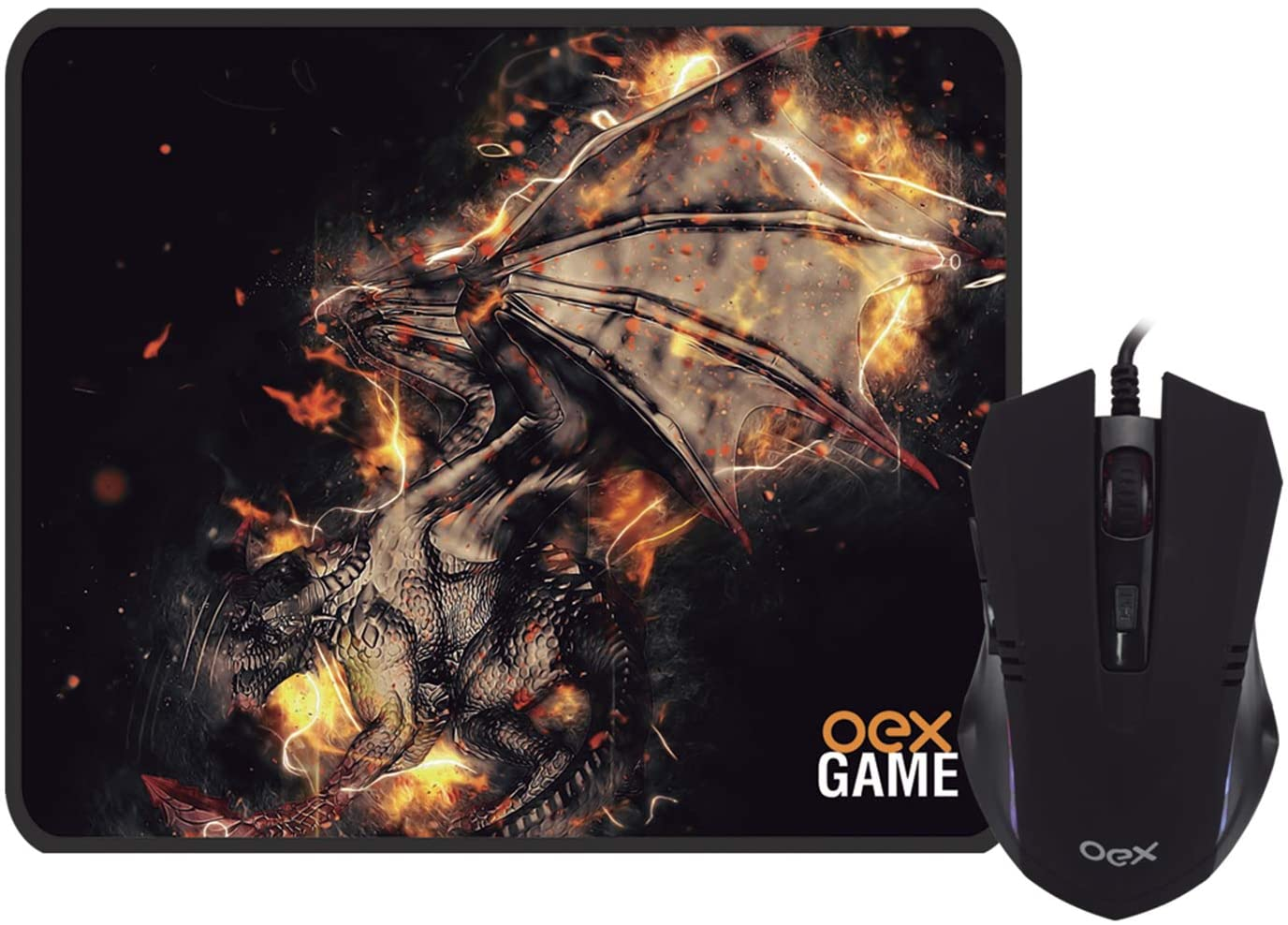 COMBO ARENA MOUSE GAMER 2400 DPI + MOUSE PAD OEX MC102