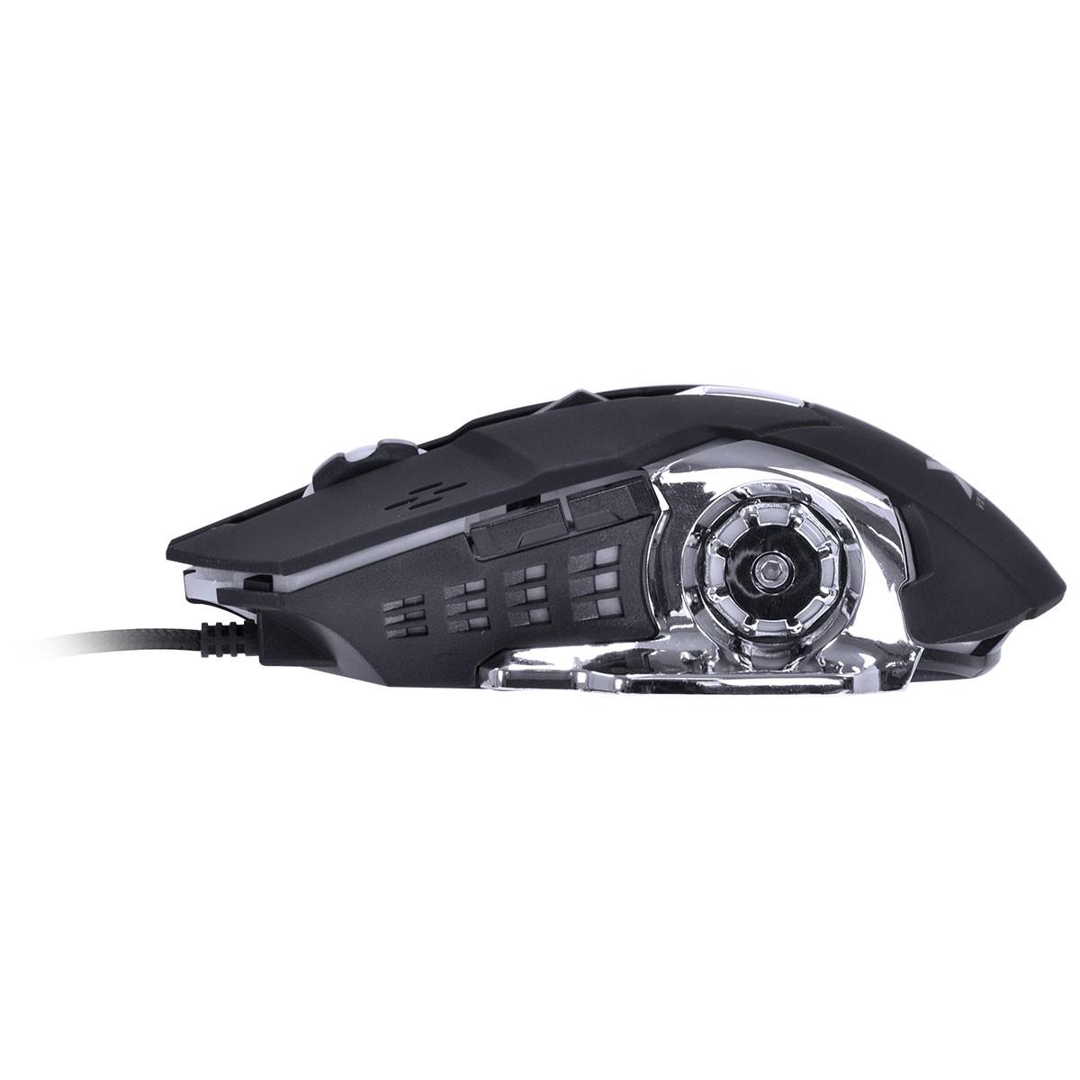 COMBO GAMER VX GAMING GRIFO TECLADO + MOUSE 2400 DPI LED USB CABO 1.8 METROS AZUL – VGC-01A