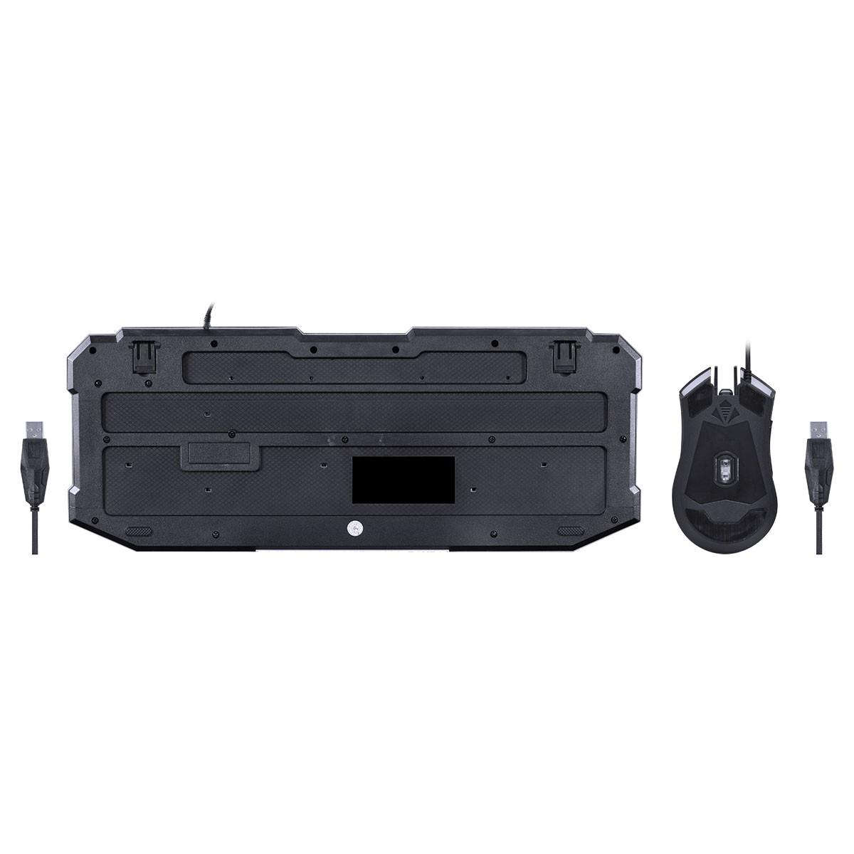 COMBO VX GAMING KRAKEN TECLADO + MOUSE 2400 DPI LED 3 CORES USB 1.8 METROS – VGC-02