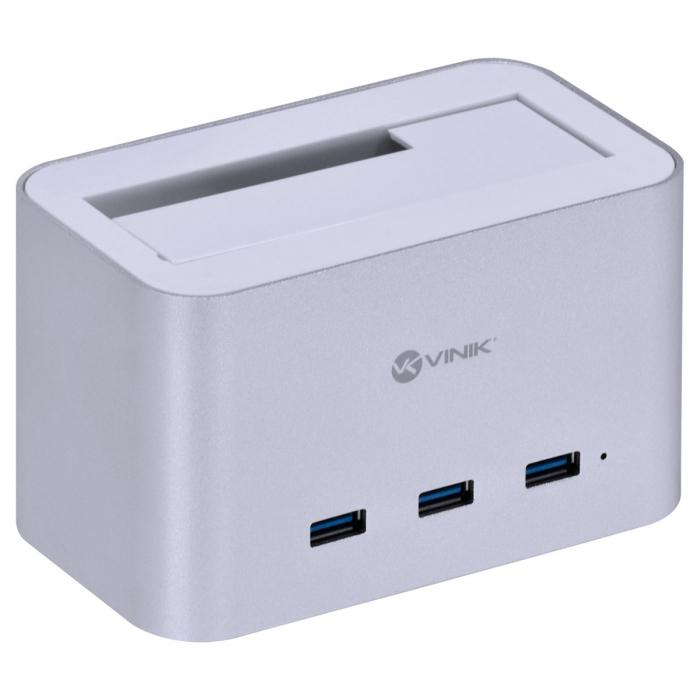 """DOCKING STATION PARA HD 2.5"""" E 3.5"""" COM 3 USB 3.0 FUNCIONA COMO HUB - DS-A30HB"""