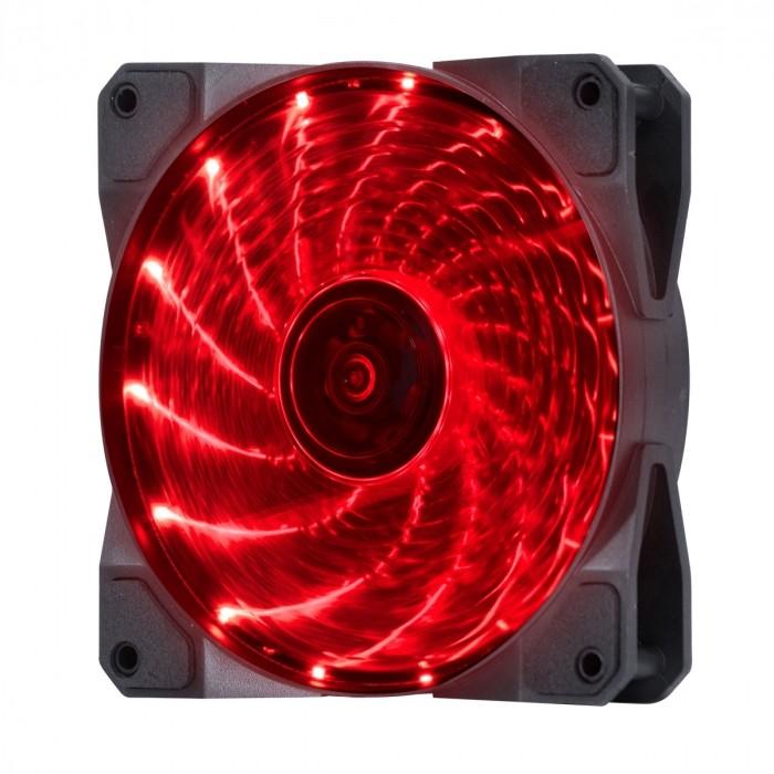 FAN/COOLER VX GAMING V.LUMI 15 PONTOS DE LED 120X120 VERMELHO - VLUMI15R