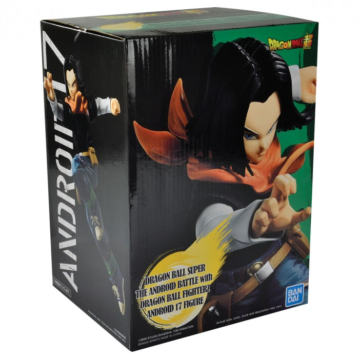 ACTION FIGURE DRAGON BALL SUPER - ANDROID 17 - THE ANDROID BATTLE REF:29221/29222