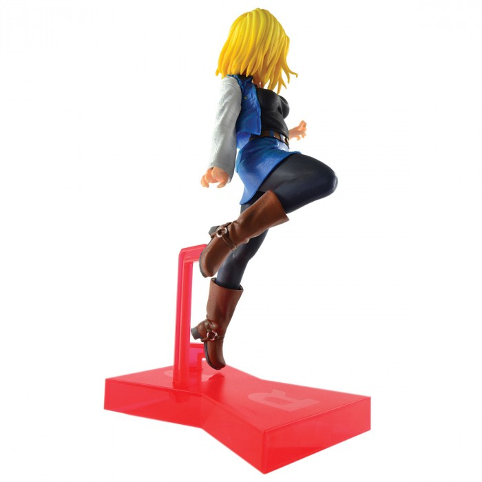 ACTION FIGURE DRAGON BALL SUPER - ANDROID 18 - THE ANDROID BATTLE REF:29217/29218