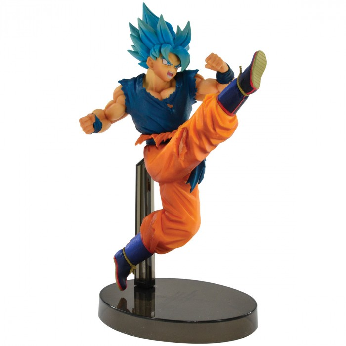 ACTION FIGURE DRAGON BALL SUPER - GOKU SUPER SAYAJIN BLUE - Z BATTLE REF: 34852/34853