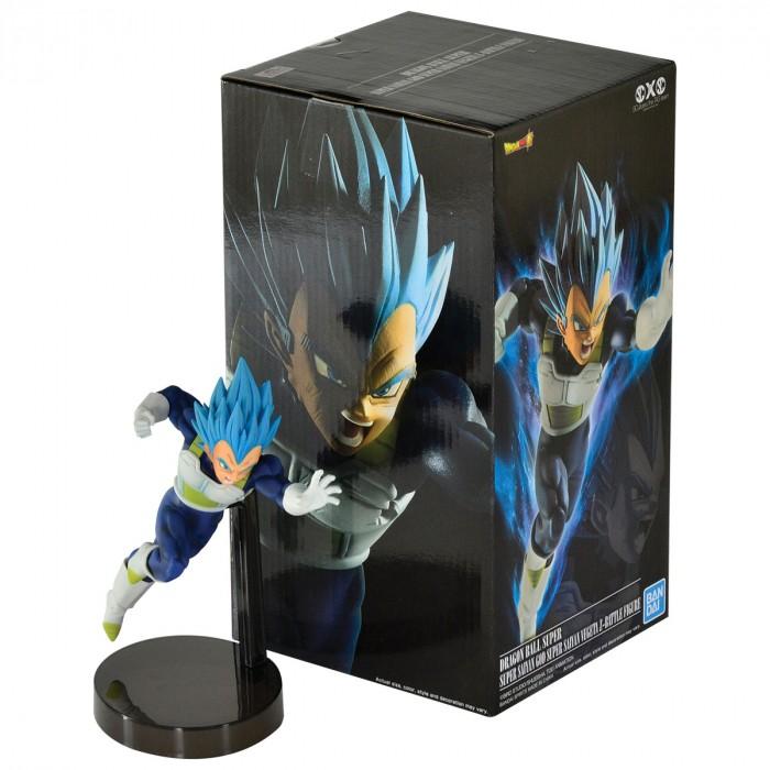 ACTION FIGURE DRAGON BALL SUPER - VEGETA SUPER SAYAJIN BLUE - Z BATTLE REF: 34828/34829