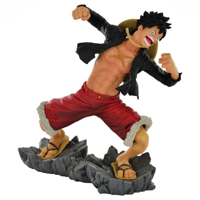ACTION FIGURE ONE PIECE - MONKEY D. LUFFY - 20TH DIORAMA REF.28714/28715